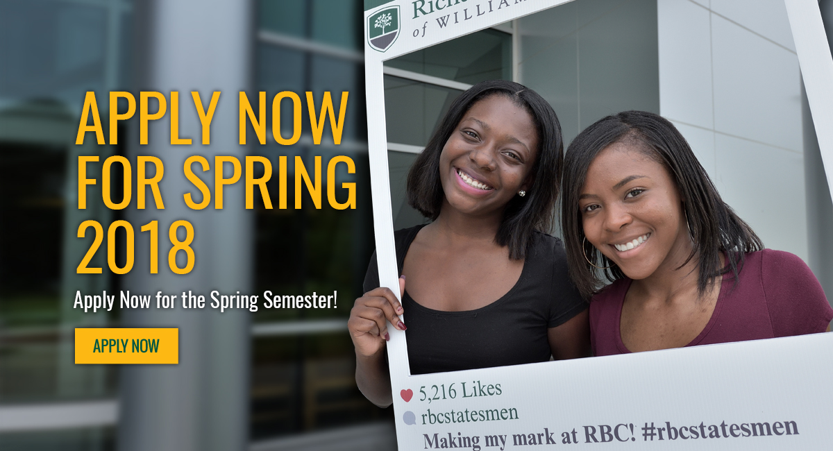 Apply Now For Spring 2018