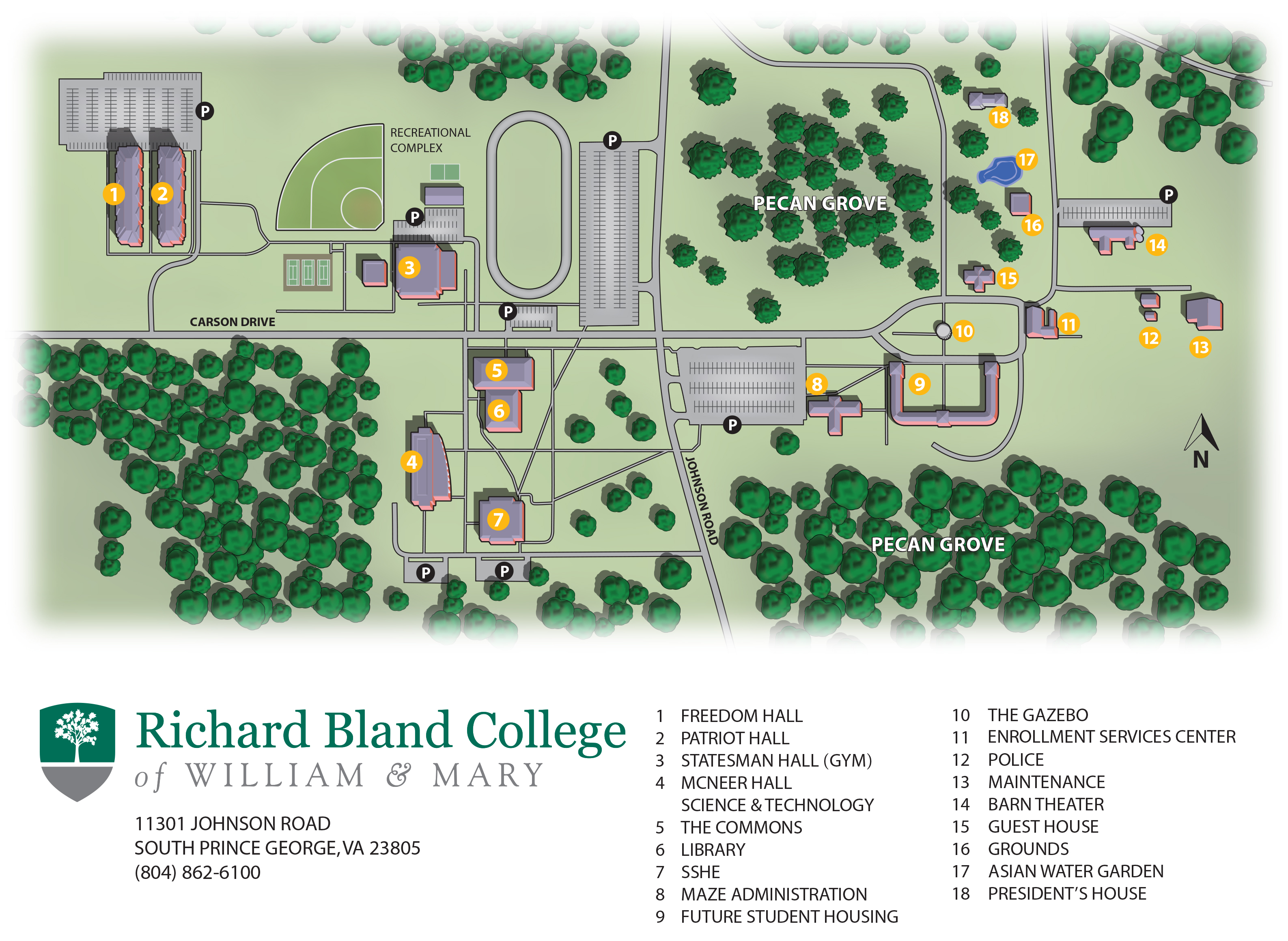 Norfolk State Campus Map.Campus Map Richard Bland College