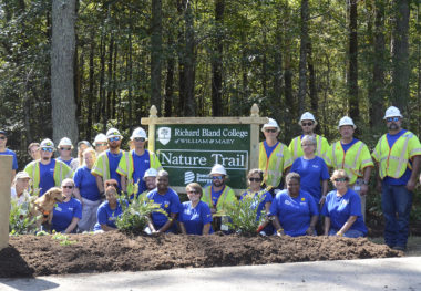 Richard Bland College Partners With Dominion Energy to Revitalize Nature Trail