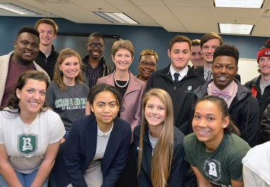 Student Leaders Meet With President
